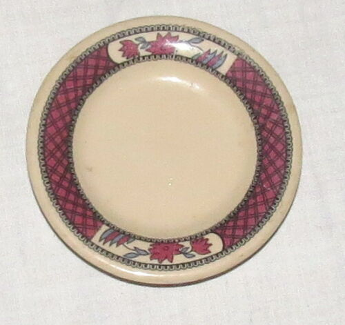 Butter Pat 3.4 inches Mayer China Brocton Restaurant Red Flowers