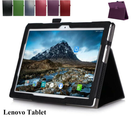 """Lenovo Tab M10 10.1"""" M10 FHD Plus 10.3"""" Tablet Leather Folio Stand Case Cover"""