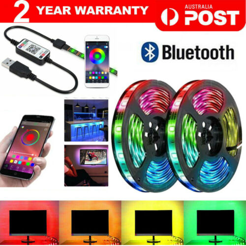 RGB LED Strip Lights IP65 Waterproof 5050 5M 300 LEDs 12V USB Bluetooth  <br/> CLEARANCE, SAME DAY SHIPPING, From MELBOURNE