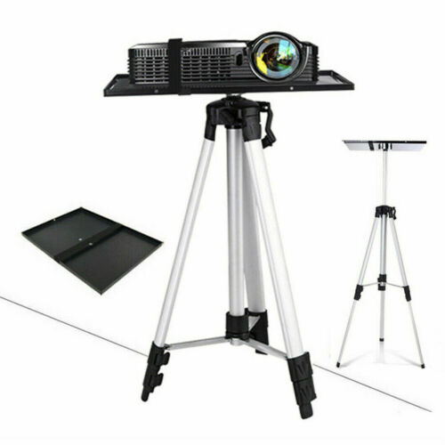 """21-55"""" Adjustable Projector Tripod Stand Floor Holder with Mount Tray DVD Player"""