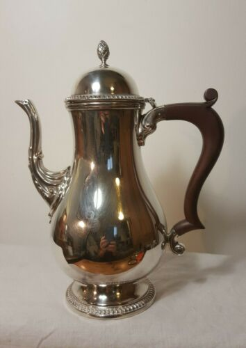 Barker Ellis Quality EP Silverplate Coffee Pot with Wooden Handle