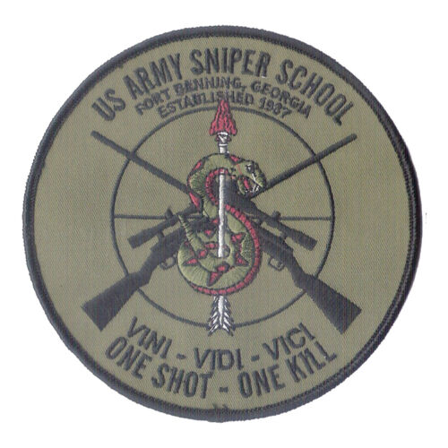 Od Us Army Sniper School Embroidered Patch 5