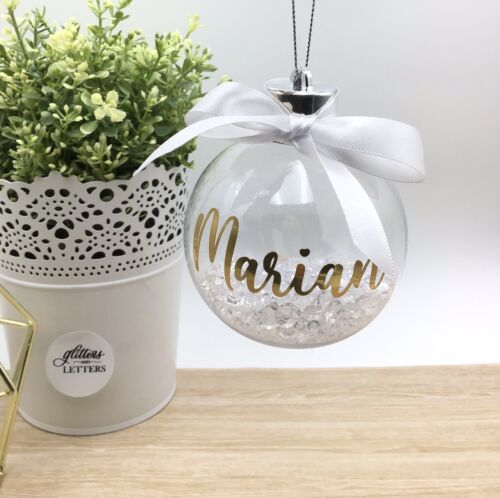 Personalised Christmas Baubles Crystal Baubles Custom Gifts Ornament Christmas