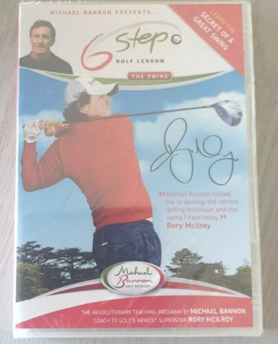 Michael Bannon Presents Six 6 Step to Better Golf [DVD] New and sealed Free Post