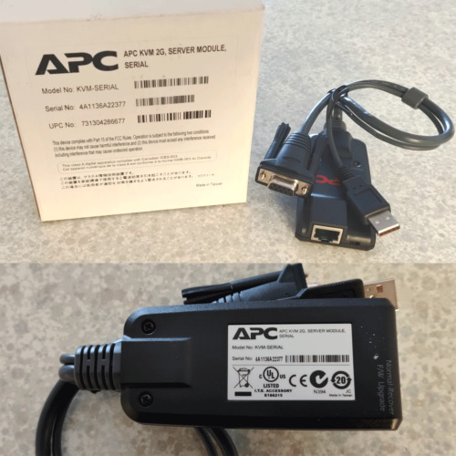APC KVM 2G Serial port module, RJ45 to USB-9-pin Serial