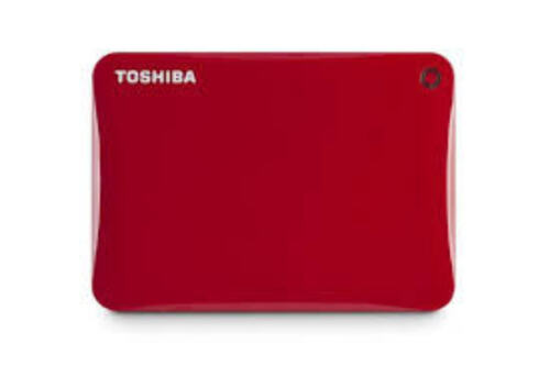 """TOSHIBA CONNECT II PORTABLE 2T B, 2.5"""" USB HDD WITH B/UP S/W(RED), 3YR"""