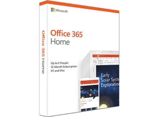 Microsoft Office 365 Home/Family - 6 Device 1 Year Subscription Medialess
