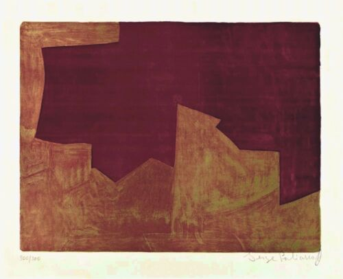 Serge POLIAKOFF _ Original Lithography - 1963 _ signed and numbered in pencil