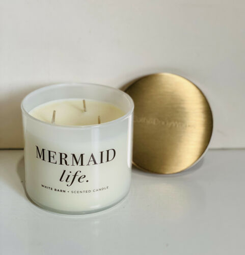 NEW! BATH & BODY WORKS WHITE BARN 3-WICK SCENTED CANDLE - MERMAID LIFE - SALE