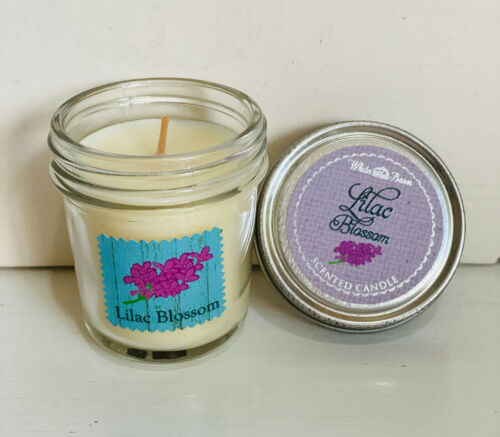 NEW! BATH & BODY WORKS WHITE BARN HOME MINI SCENTED CANDLE LILAC BLOSSOM - SALE