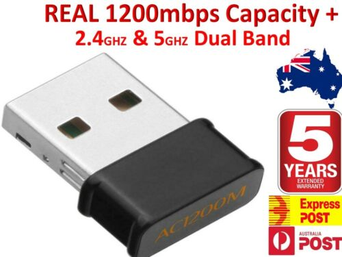 1200Mbps FAST USB Wireless WiFi Network Receiver Adapter 5GHz Dual Band Dongle