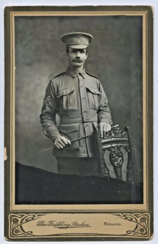 WW1 1915 AIF FRUHLING STUDIO PHOTO OF SOLDIER PRE EMBARKATION S.A. ADELAIDE L52.1914 - 1918 (WWI) - 13962