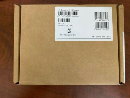 Hewlett Packard DisplayPort to VGA (AS615AA) adapter Cable (Brand New)