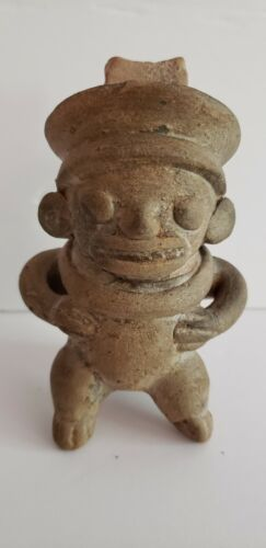 Authentic Pre-Columbian Human Male Whistle Figure