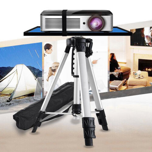 Compact Height Adjustable Projector Stand Tripod with Large Tray Indoor Outdoor