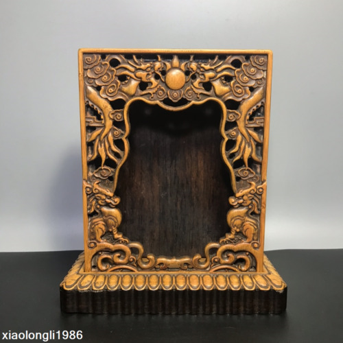 Retro  China  Bamboo root  carving  Hollowing Technology  Buddhist niche