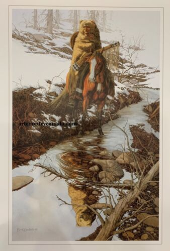 Bev DOOLITTLE Spirit of the Grizzly WSS rare art print with write up Bear