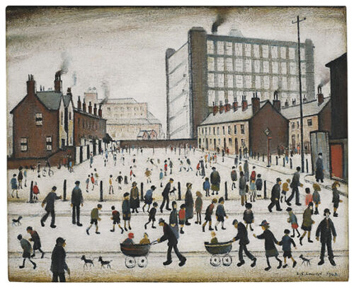 L.S. Lowry : 1943 : The Mill, Pendlebury : Archival Quality Art Print