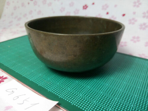 """3.228"""" Japanese Vintage Buddhist Bell Gong Rin G651 Gentle Tone"""