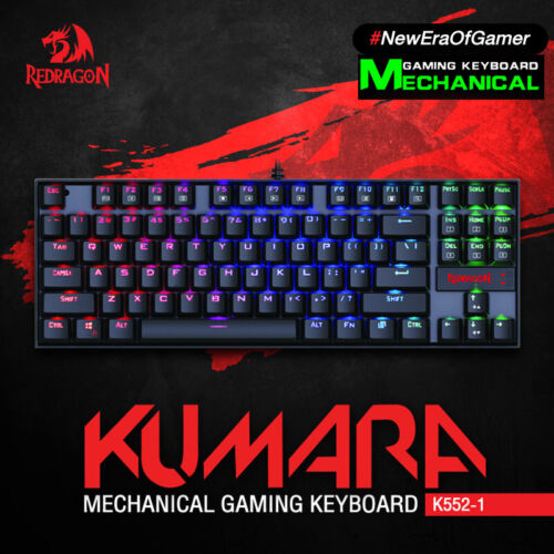 REDRAGON K552 Gaming Mechanical Wired Splash-proof Water Keyboard 87 Keys AU