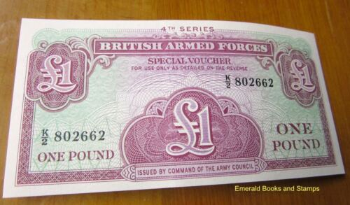 EBS British Armed Forces - 1 Pound 1962 4th Series Banknote - UNC Pick M36Other Eras, Wars - 135