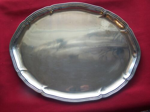 Large Marked Dresden 800 Silver By Eckert Germany Tray Salver 965 gr Not Scrap