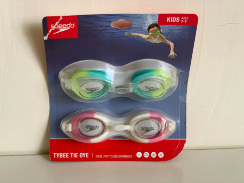 NEW! SPEEDO TYBEE TIE DYE YOUNG KIDS SWIMMING GOGGLES FOR AGES 3-8 YEARS OLD