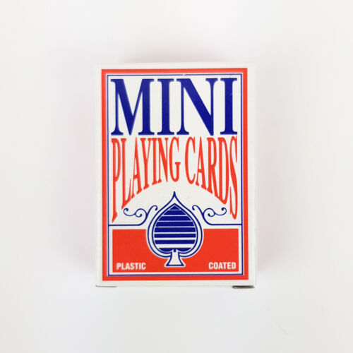Mini Playing Cards Small Card Poker Pocket Game Deck Plastic Coated 4.5x6cm