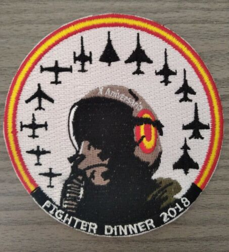 SPANISH AIR FORCE FIGHTER DINNER 2.018 PATCH PARCHE Parches - 4725
