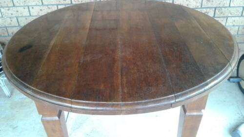 Antique solid oak table