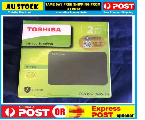 Toshiba Canvio Basics 2TB Portable External Hard Drive USB 3.0