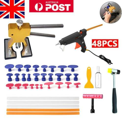 48×PDR Paintless Dent Puller Lifter Hail Removal Tools Car Body Kit Glue Gun AU