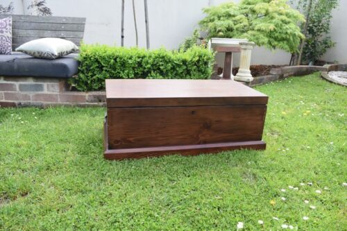 Antique Oregon Chest Timber Dovetailed Restored Blanket Box