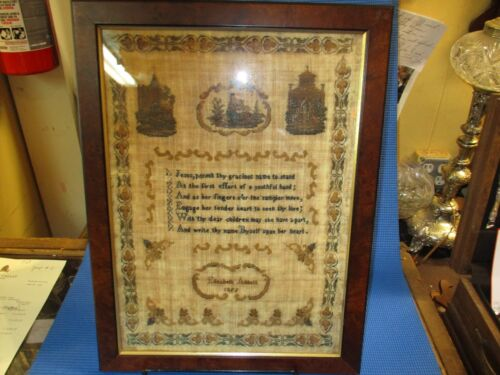 Antique English Hand Done Sampler