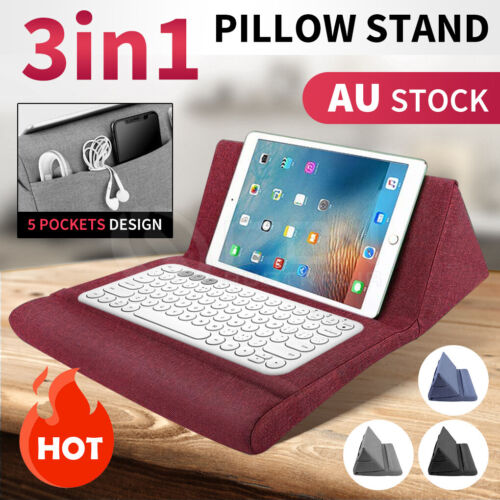 3in1 Tablet Pillow Stands For iPad Book Reader keyboard Holder  Reading Cushion