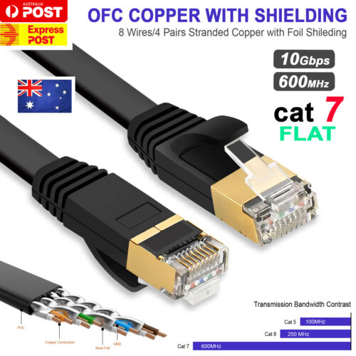 LAN Ethernet Network Cable CAT7 RJ45 10Gbps 1m 1.5m 3m 5m 10m 15m 20m 25m 30m AU