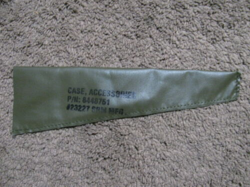 Military Rifle Butt Stock Cleaning Kit Pouch, New