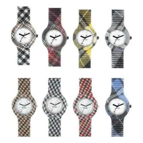 Orologio HIP HOP NUMBERS TARTAN PIED DE POULE Unisex Silicone Small 32 mm