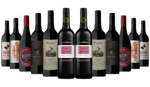 1400+ SOLD! Iconic Aussie Red Mixed 12x750ml RRP$240 Free Shipping/Returns