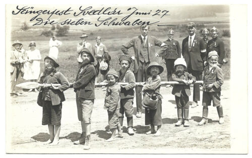 OLD Spisska Nova Ves Slovakia 1920 FESTIVAL CHILDREN ORIGINAL PHOTO BY HISCH