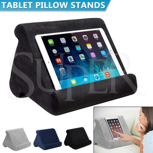Tablet Pillow Stands For iPad Book Reader Holder Rest Laps Reading Soft Cushion