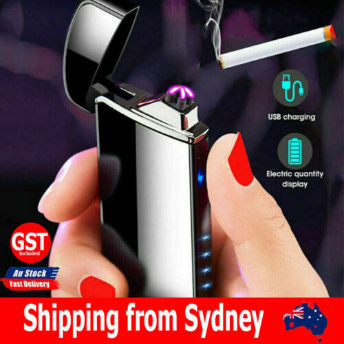 Electric Flameless Windproof USB Rechargeable Dual Arc Plasma Lighter Lighters