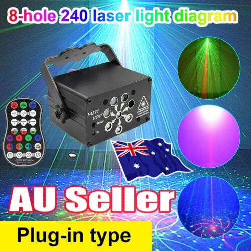 240 Patterns LED Stage Lighting RGB Laser Projector Disco Party Club DJ Lights O