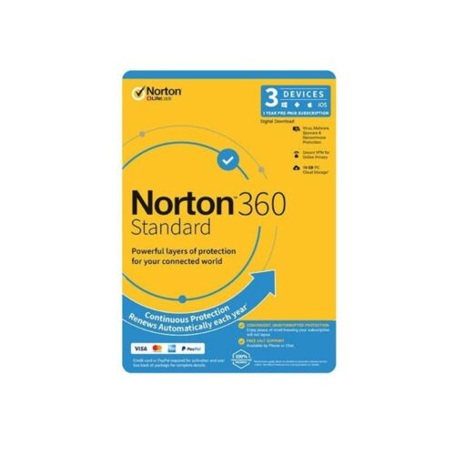 Norton 360 Standard OEM 1 User 3 Devices 1 Year