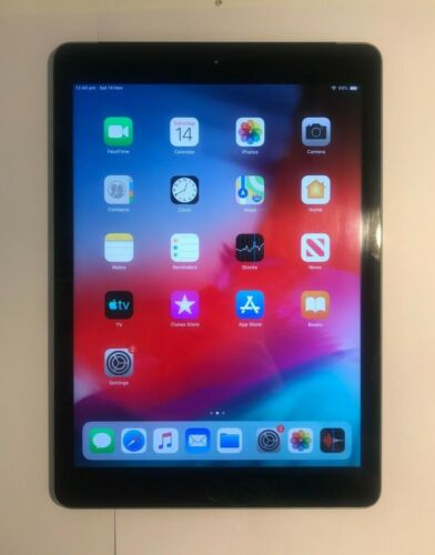 Apple iPad 5th Gen 32GB Wi-Fi + 4G A1823  9.7in Space Grey EXCELLENT CONDITION