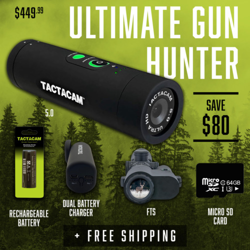 Tactacam Ultimate Gun Hunter Package: 5.0 Camera, FTS, Charger, Battery, 64gb SD