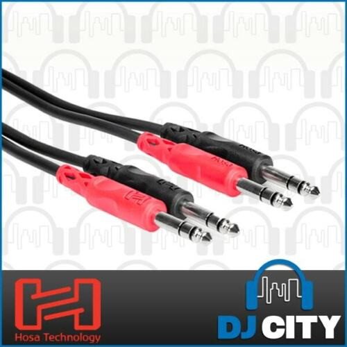 Hosa CSS-201 Dual Cable 1/4 Inch TRS - 3.3ft / 1M