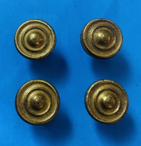 SET 4 Antique Hardware Cabinet knob Brass drawer pull MCM Colonial Duncan Phyfe