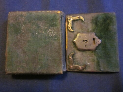 1/16 Glass Ambrotype of Man in Unusual Case with Detached Cover w/Key Slot