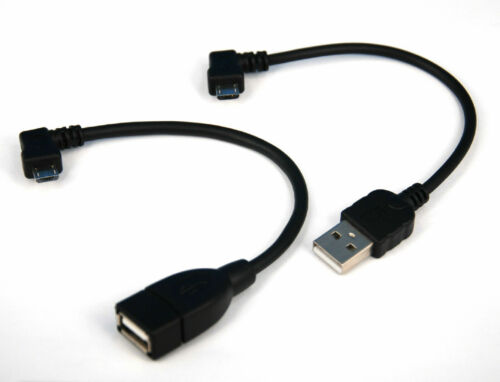 10cm Right Angle USB Cable+Host OTG Adapter for LG G Pad F 8.0 7.0 X8.3 10.1 8.3